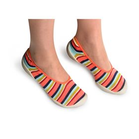 Ballerines Coral stripes